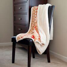 Lavish Home Fleece Sherpa Super Soft Blanket Throw - Hearts 50 x 60