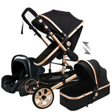 Baby Stroller 3 in 1 Newborn Infant Bassinet Travel System with Car Seat Black