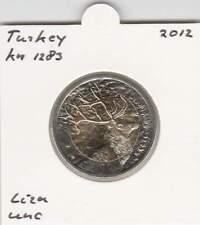 Turkey 1 lira 2012 UNC - KM1283 / Deer (mg165) bimetal