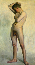 Male Nude painting Eugene Jansson reproduction, giclee art canvas print