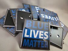 WHOLESALE LOT OF 22 POLICE BLUE LIVES MATTER BUTTONS MEMORIAL LINE PINS TRUMP $
