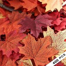 400 PCS Mixed Fall Colored Artificial Maple Leaves for Weddings Event Decoration