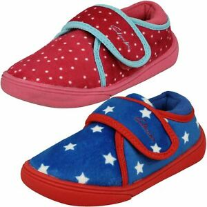 Clarks Childrens Patterned Slippers - Holmly Rest T