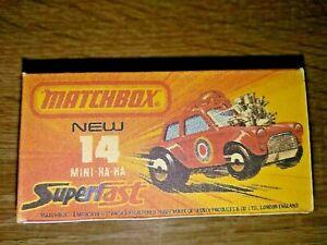 Matchbox -  No14 Mini Ha-Ha - Replica Box