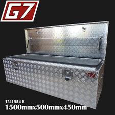 Aluminium Tool Box 1500x500x450 mm Checker Plate Ute Trailer  toolbox Rectangle1
