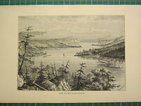 C1890 Antik Aufdruck ~ Blick On The River Nipigon Ontario Kanada