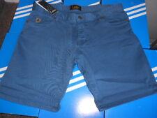 Lois Lona Chino Pantalones Azul Medio Cintura 38 Nuevo Original Jeans 5 Bolsillo 80s Casual