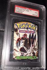 PSA 9 MINT EX EMERALD Booster Foil Pack GROUDON Artwork Pokemon