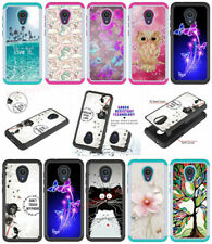 Bling diamonds Shockproof cartoon 2in1 hard soft hybrid back phone case cover S3