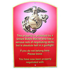 USMC Warning Sign, Made in the USA