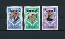 Barbuda 497-9 MNH, Royal Wedding, 1981