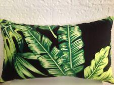 Tommy Bahama Outdoor Indoor Tropical Banana Palm Leaf Lumbar Retro Cushion Cover