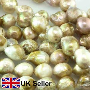 Gold Edison, Kasumi-style freshwater potato pearls, UK DESPATCH