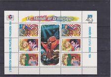 MADAGASCAR 1994 LE MONDE DE LA MUSIQUE CELEBRITES ELVIS  BLOC FEUILLET NEUF**