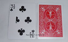 3 1/2 of Clubs, Gag/Novelity Card, Red Bicycle Back (2315)