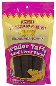 Jones Beef Liver Blend Tender Taffy (2 of 8 oz Packs) Dog Snacks