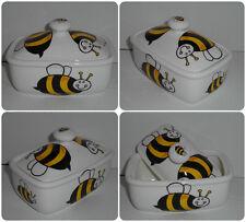 BN Fine Bone China Butter dish, Bumble Bee Design, Uk Made China, Bee Butterdish