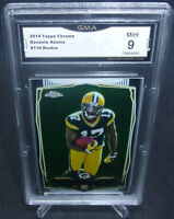 2014 Topps Chrome Davante Adams Rookie Card #114 GMA Graded Mint 9 PACKERS