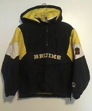 Vintage Boston Bruins Starter Jacket Youth Sz S NHL W Pouch Hood