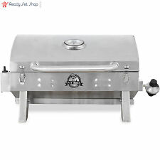 Portable Stainless Steel Gas Grill Tailgate Camping Grill Propane Tabletop New