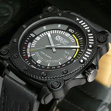 Military Sport Rubber Black Men's Watch Waterproof Wrist Dial Analog Dash Board