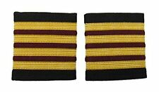 Epaulette 4 X1/4 inch Gold 3 Bars Maroon Airline Aircraft Engineers R234