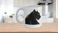 Black Panther Mug White Coffee Cup Gift Big Cat Safari Jungle Save the Planet