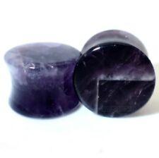 0 5/32in-0 15/16in Amethyst Organic Stone Plug Ear Tunnel Piercing Studs