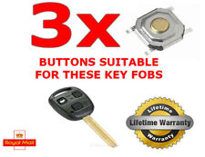 3 X SWITCH BUTTON FOR TOYOTA AVENSIS MR2 CELICA COROLLA PRIUS KEY FOB REPAIR