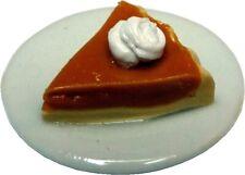 Dollhouse Miniature - Pumpkin Pie Slice - 1:12 Scale