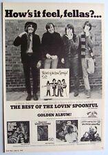 THE LOVIN' SPOONFUL 1967 POSTER ADVERT THE BEST OF golden album John Sebastian