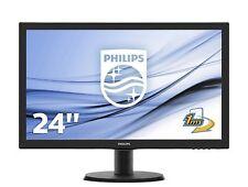 """MONITOR PC 24"""" POLLICI PHILIPS LED FULL HD PER PC FISSO HDMI/DVI/VGA 16:9"""