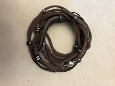 Orvis Fishing Measurement Leather Bracelet With Magnetic Clasp