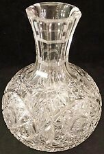 ABP American Brilliant Period Cut Crystal Glass Vase Nice Pattern Round Body