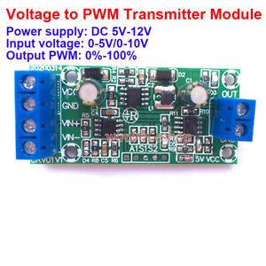 V-PWM 0-5V 0-10V to 0-100% Voltage to PWM Signal Linear Converter Module Board