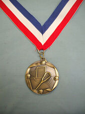 male lacrosse gold medal trophy wide patriotic neck drape