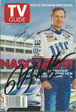 FEBRUARY 1999 NASCAR EDITION OF TV GUIDE MAGAZINE RUSTY WALLACE COVER SIGNED