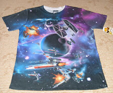 """Fifth Sun """"Vader Space Battle"""" Mens Size (S) Short Sleeve Tee T-Shirt! New!"""