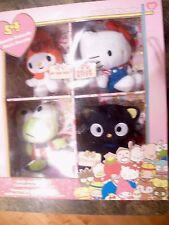 Hello Kitty 2010 50th Anniversary 4 Plush set - NEW IN BOX Sanrio Friends