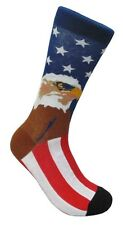 American Eagle USA Flag America FineFit Mens Fun Novelty Socks Dress SOX 10-13