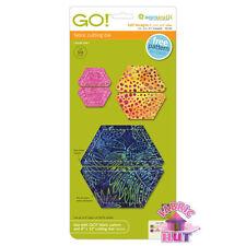 Accuquilt GO! Fabric Cutter Die Half Hexagon Quilt Sewing 55165
