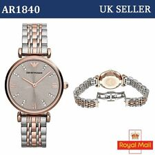 Genuine Ladies Emporio Armani AR1840 2 Tone Rose Gold Watch 2year