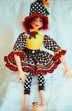 "*NEW* CLOTH ART DOLL (PAPER) PATTERN ""BANBURY CROSS BETH"" BY PATTI MEDARIS CULEA"