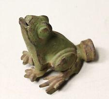 Antique Cast Iron Frog Figural Water Sprinkler