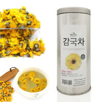 Medicinal Korean Herb, Chrysanthemum Blooming Tea, Gift Tin Caddy, Bulk Herb,1oz
