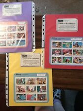 Lot 6 Disney Classic Fairy Tales Sheet Stamps Grenada Snow White Peter Pan