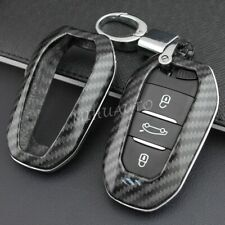 Key Fob Cover Case Chain Ring For Peugeot 508 Citroen C3 C5 Aircross C4 DS 5 3 7