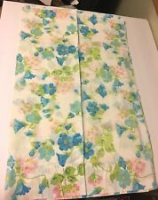 Vintage Pair of  Floral Pillowcases Morning Glories