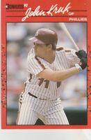 FREE SHIPPING-MINT-1990 Donruss #160 John Kruk Philadelphia Phillies Baseball Cd