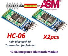 2pcs HC-06 Bluetooth Serial Transceiver Module Slave Master RS232 HC06
